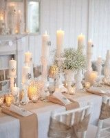 Idea for Christmas setting and tablescape