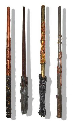 DIY Harry Potter wands.  Dadcando has a DIY instruction manual -- and another for the wand box!