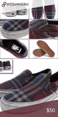 d00a6f0b273891 VANS Classic Slip On CA Overwashed Plaid Size 11 Have one to sell  Sell now
