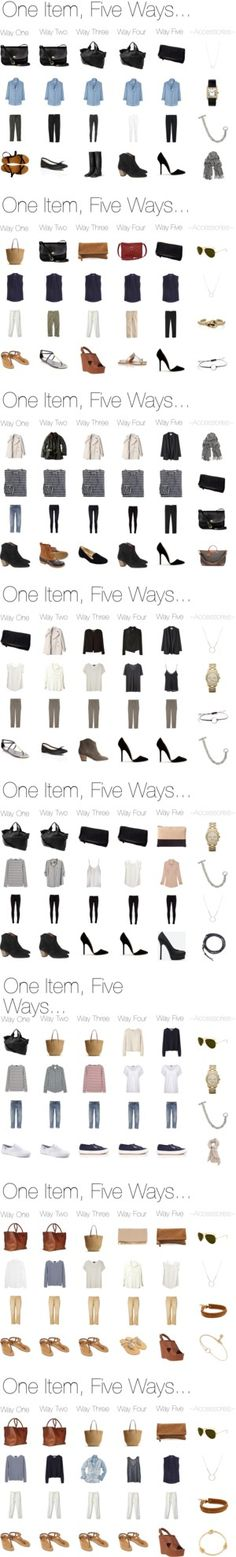 One Item, Five Ways.