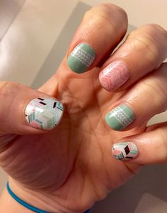 Cabana, Sorbet and Gelato mixed together- what a beautiful and fun spring/summer combination! Jamberry nail wraps. CLICK HERE to find these fun styles and more! www.jamsbykara.jamberrynails.net #jamsbykara #nailart #jamberry