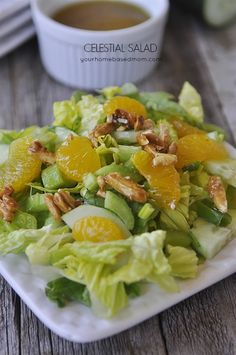 Celestial Salad recipe. Healthy lunch or dinner recipe for the summer!
