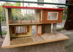 Stylish Dolls House Self Original 60er - 70er-Hot! 47x87x43 cm