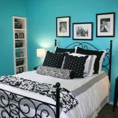 Blue bedroom ideas for teenage girls bedroom teen girl bedroom Teen Bedroom Colors, Girls Bedroom, Master Bedroom, Dream Bedroom, Pretty Bedroom, Summer Bedroom, Diy Bedroom, Bedroom Themes, Bedroom Modern