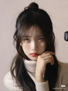 Aesthetic People, Aesthetic Hair, Girl Inspiration, Portrait Inspiration, Pretty Asian Girl, Human Poses, Hair Reference, Cute Girl Face, Fashion Poses