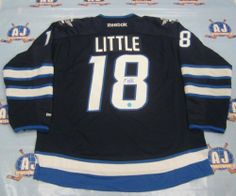 BRIAN LITTLE Winnipeg Jets SIGNED 2011 Reebok Premier Hockey Jersey . $379.05. This is an official licensed SIGNED Brian Little Winnipeg Jets jersey. The jersey is brand new with all of the lettering and numbering professionally sewn on. The player has beautifully signed the number. To protect your investment, a Certificate Of Authenticity and tamper evident hologram from A.J. Sports World is included with your purchase.