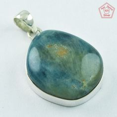 SIIPL _ APATITE STONE gENTLe bEAUTy 925 STERLING SILVER PENDANT P5066 #SilvexImagesIndiaPvtLtd #Pendant