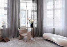 Linnegardiner vardagsrum Curtains, Interior, House, Inspiration, Home Decor, Home, Biblical Inspiration, Blinds, Indoor