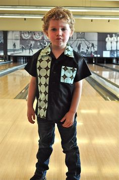 Ginger Freckle - the blog.: Kid's Bowling Shirt Tutorial