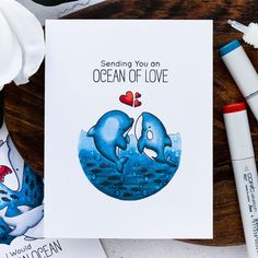 Yana is back today sharing a gorgeous trio of underwater ocean scenes, featuring the Friends with Fins stamp set. Card Tags, I Card, Kiwi Lane Designs, Copic Sketch Markers, Birthday Images, Birthday Quotes, Card Sketches, Scrapbook Sketches, Mft Stamps
