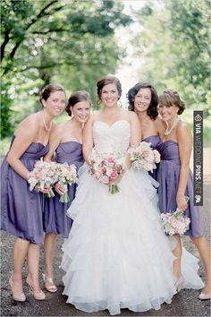 purple bridesmaid dresses | CHECK OUT MORE IDEAS AT WEDDINGPINS.NET | #bridesmaids