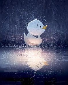 Pascal Campion, It's pouring, It's raining…. Duck Illustration, Illustrations, Pascal Campion, Cute Cartoon Wallpapers, Anime Art Girl, Poster, Cute Drawings, Cute Art, Art Sketches