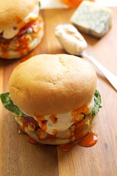 Buffalo Turkey Burgers with Buffalo Blue Cheese Sauce | Recipe Runner | These lighter burgers are bursting with flavor and sure to be a hit at your next BBQ! #BBQ #summer #4thofJuly