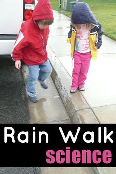 Rain Experiments for Kids: Flowing Objects. Taking kids outdoor on rainy days is great experience for children. Go for a walk and let children expolre the beauty of nature.