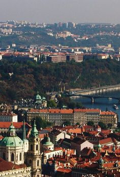 Another great view of Prague from the Petrin Tower - Prague, Czech Republic. Photo taken by Gloria Bolton