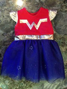 Wonder Woman Tutu Dress/Costume~Infant/Toddler on Etsy, $34.99