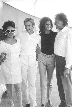 Liz Taylor, Helmut Berger, Florinda Bolkan