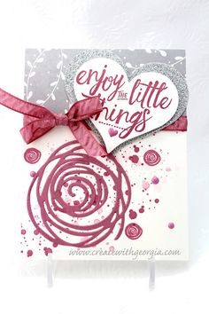 This is such a pretty card using Swirly Bird and Layering Love stamp sets…