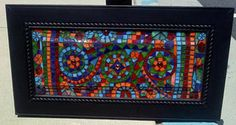 Mosaic on old cabinet door.   Flickr - Photo Sharing!