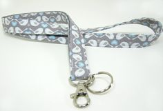 Fabric Lanyard  ID Badge and Key Ring  in Grey by SwaddleinCloth, $8.50  https://www.etsy.com/listing/195294364/fabric-lanyard-id-badge-and-key-ring-in?ref=sr_gallery_21&ga_order=date_desc&ga_view_type=gallery&ga_ref=fp_recent_more&ga_page=32&ga_search_type=all