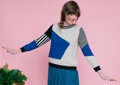 Image of Blue Landscape Sweater