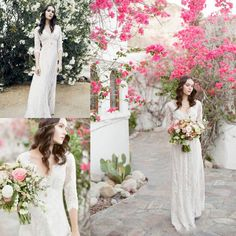 2016 New V Neck Lace Bohemian Wedding Dresses Style With Long Sleeves Empire Illusion Sexy Boho Bridal Gowns Beach Cheap Spring Plus Size Wedding Wedding Dresses A Line Short Wedding Dresses From Dressmanualfactory, $105.53  Dhgate.Com
