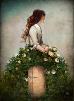 'the key to her secret garden' by Christian  Schloe on artflakes.com as poster or art print $23.56
