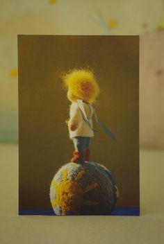 Kleiner Prinz  Postkarte mit Umschlag von TaleWorld auf Etsy