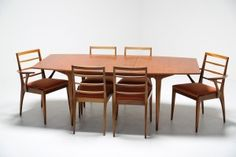 A H McIntosh Teak Dining suite with 6 chairs Table And Chairs, Dining Chairs, Dining Table, Retro Furniture, Industrial Furniture, Mid-century Modern, Contemporary, Fine Dining, Teak