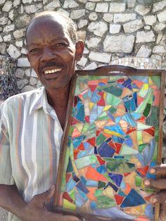 mosaic artisan Haitian Art, Mosaic, January, Arts And Crafts, Artisan, Painting, Mosaics, Painting Art, Craftsman
