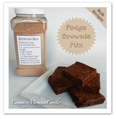 Country Momma Cooks: Bulk Brownie Mix