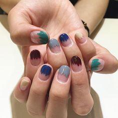 Dipped n dripped nail art