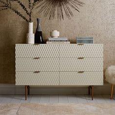 "Audrey 6-Drawer Dresser , 52""w x 17""d x 33""h. #westelm"