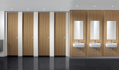 Bushboard Washrooms strive to provide toilet cubicles to suit any requirement. Each supplied toilet cubicle features high quality construction and multiple design options. Bathroom Stall, Office Bathroom, Bathroom Toilets, Bathroom Interior, Modern Bathroom, Wc Public, Public Shower, Washroom Design, Toilet Design