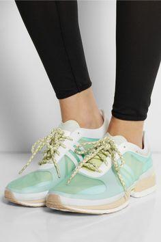 Adidas by Stella McCartney Adizero II mesh sneakers NET-A-PORTER.COM