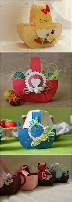 DIY Easy Cardboard Easter Basket #craft #Easter #decor