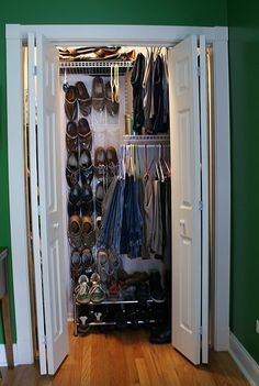 I've never been a fan of the bi-fold doors on our bedroom closet