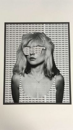 Debbie Harry Stencil collage Collage Kunst, Mode Collage, Art Du Collage, Aesthetic Collage, Collage Walls, Poster Collage, Collage Background, Editing Background, Newspaper Background