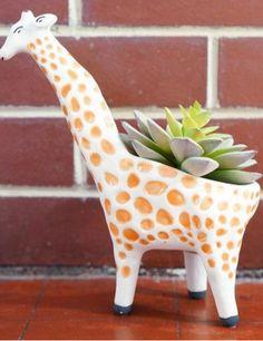 giraffe and animal planters #anthrofave