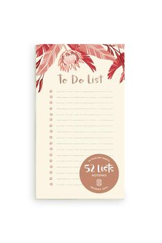 List your life from goals to grocery lists with this beautiful 52 Lists To Do List notepad! Includes 52 tear-off sheets with lines and checkboxes, embellished with metallic foil and lush illustration. Paper Goods, Winter, Winter Time