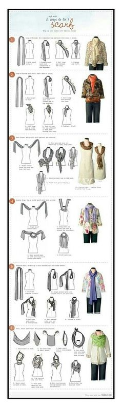 Fashion tip. Different ways to wear our scarves. Luv it.