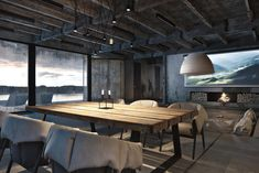 Uncovered concrete partitions, metal girder ceilings and barely-there glass flooring set the scene on this industrial type house by Ukrainian architect Igor Sirotov. The utilitarian backdrop is residence to some plusher wanting items, reminiscent of a scattering of designer chairs and a gentle... #ExposedConcreteWalls, #GlassFloors, #HouseTour, #Industrial, #IndustrialDecor, #IndustrialHome, #IndustrialStyle, #UtilitarianHomeDesign #house #housedecorating #housedecor #housede