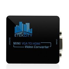Etekcity® Mini Compact Video VGA Audio to HDMI 1080P Converter Box Adapter with 3.5mm audio for HDTV 1080P with USB Power: Great for Pcs, Laptops, Projectors, Computers, TVs, etc. by Etekcity, http://www.amazon.co.uk/dp/B00KJ9BUMO/ref=cm_sw_r_pi_dp_zm-Ttb0HYQYWD