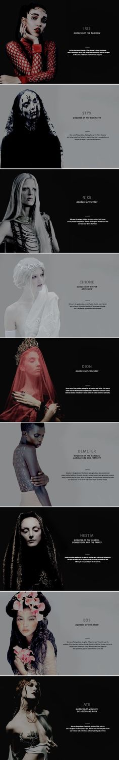 greek goddesses   iris, styx, nike, chione, dion, demeter, hestia, eos, ate