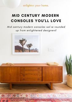 Mid Century Modern Consoles You'll Love. Enlighten Your Home, Bunglo Blog. Photo Via Dwelling Collective. Fall Home Decor, Autumn Home, Home Decor Trends, Bohemian Homes, Extra Storage, Consoles, Mid-century Modern, Mid Century, Shelves