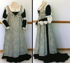 Dress and overdress....a little early for Renaissance, but love it just the same!
