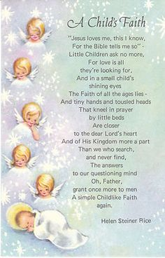 the poem essay to miss catharine jay will look familiar to  vintage christmas card angels a child s faith helen steiner rice poem angel