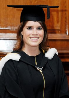 Dressed in a graduation robe, a mortar board hat, and clutching her degree scroll, Princess Eugenie of York couldn't have looked happier. The 22-year-old graduated from Newcastle University, with a degree in English and history of art. She was awarded her qualification in front of fellow students and their families, along with her proud dad, Prince Andrew and sister Princess Beatrice.
