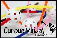 Toddler Busy Bag  Ball weaving   by CuriousMindsBusyBags on Etsy, $4.75