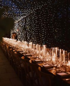 Something magical at . Photo by Wedding & Event Planner Venue Event designer Videographer Wedding Reception Lighting, Romantic Wedding Receptions, Elegant Wedding, Night Wedding Ceremony, Candlelight Wedding, Tuscan Wedding, Church Wedding, Reception Decorations, Celestial Wedding
